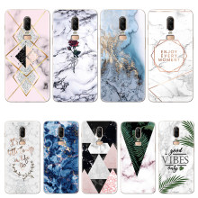 Marble Silicone Soft TPU Cases for One Plus 6T 6 3 5 5T Case Clear Bags for Oneplus 6 6T 5T Print Rubber Back Cover CapaCoque(China)