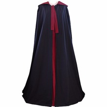 Cosplaydiy Custom Made Medieval Tudor Both sides Wear Cloak With Hood Unisex Medieval Hoody Cape L0516