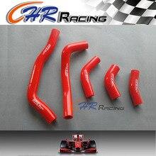 Красный 5 шт. силиконовый шланг радиатора комплект для HONDA CRF450R CRF 450R 2006 2007 2008
