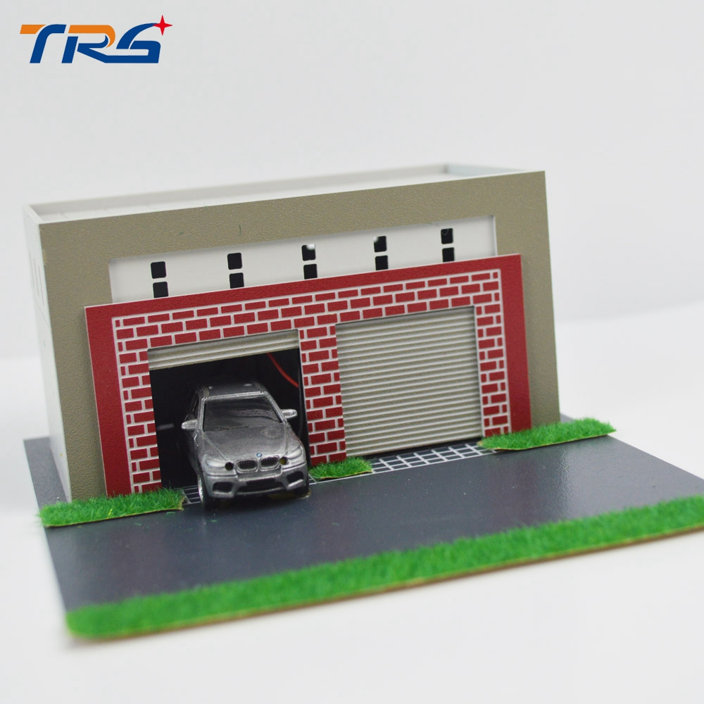 model train scenery layout 164187 miniatrure model garage scale car garage model kids toy garage for sand table layout