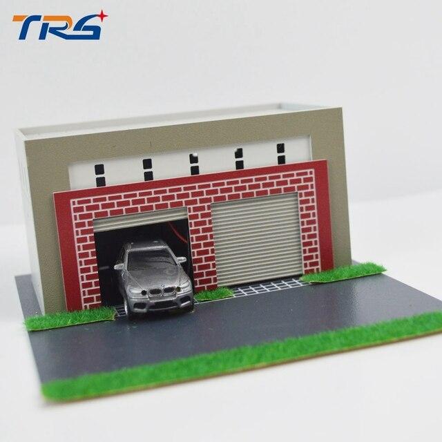 Modell Zug Landschaft Layout 1: 64/1: 87 Miniatrure Modell Garage ...