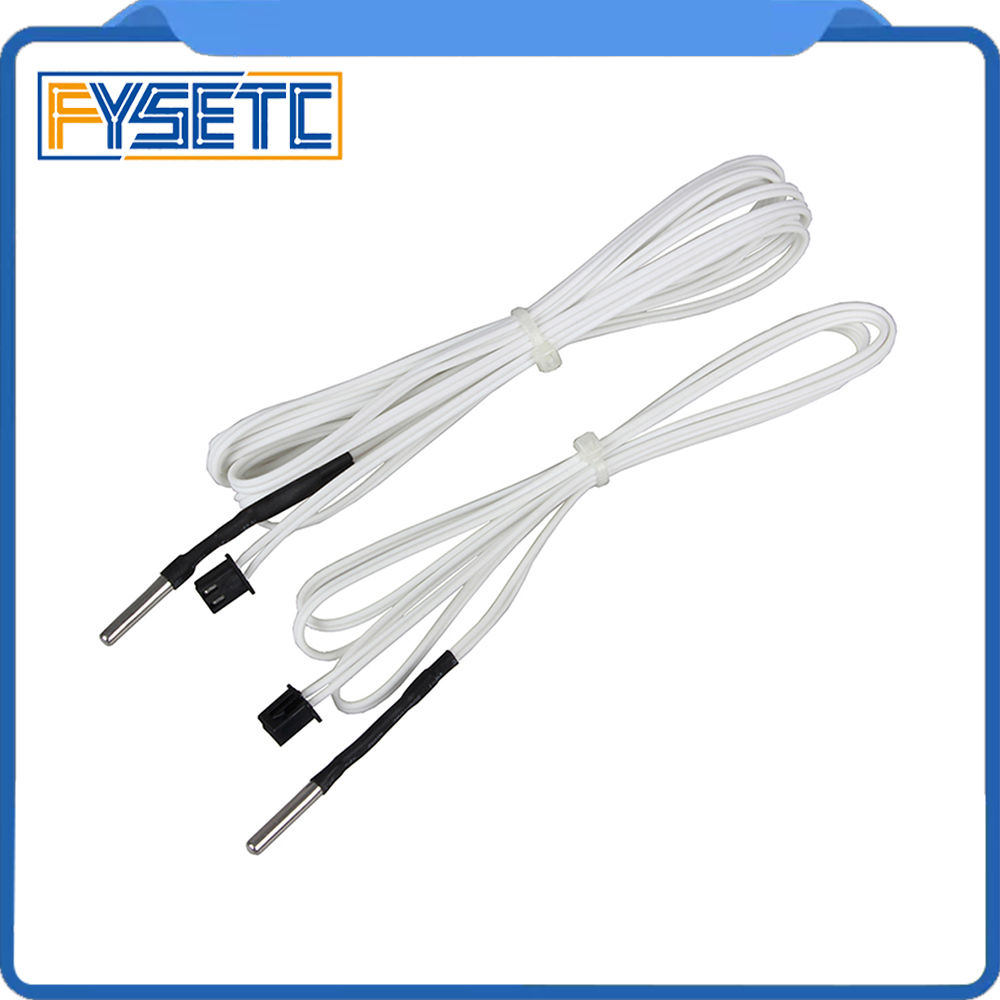 2pcs 3D Printer Parts HT-NTC100K Thermistor Temperature Sensor For High Temperature Filament 350 Degrees B3950 For 1M 2M