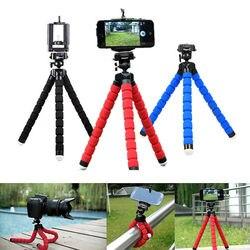 Titular Clipe de smartphones monopé tripés tripé para o telefone Móvel da câmera stativ stand tripe polvo mini tripé para telefone