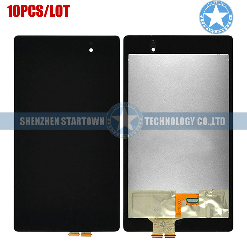 10pcs/lot Black LCD Display Front Lens Glass Touch Screen Digitizer Assembly for Asus Google Nexus 7 II 2nd