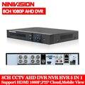NINIVISION HD CCTV 8CH AHD 1080P видеонаблюдения DVR NVR 8-канальный сетевой видеорегистратор AHD-H 1080P HDMI автономная охранная 3g WI-FI DVR video recorder