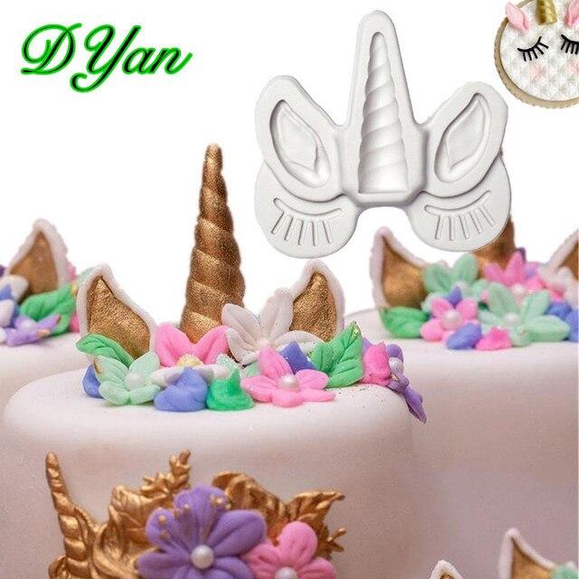 Новый Единорог помадка торт Силиконовая Форма Шоколад формы DIY торт выпечки Отделка Инструмент A1703
