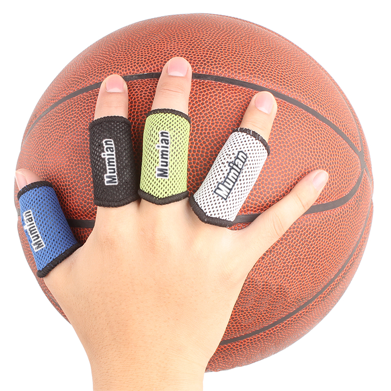 2x Stretch Elastic Arthritis Finger Fingerstall Support Protector Sleeve Sport Strap Wrap A71