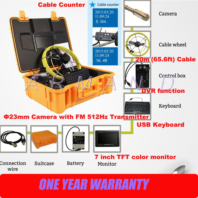Industrial Endoscope Boroscope Cameras Drainage Camera with Transmitter and Meter Counter Pipeline Chimney Inspection Cameras gas pipeline inspection system using mobile robot and gps