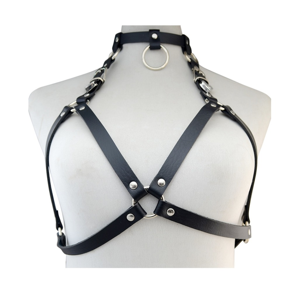 Leather Chain Bra With Two Chains - AB Innovations, Gurgaon ID.