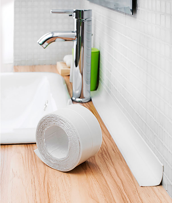 New PE Waterproof Self Adhesive Tub and Wall Sealing Tape Caulk ...