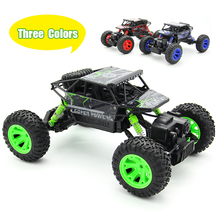 1:18 2.4G 4CH RC Del Coche RC Rock Crawler 4WD 4×4 de Rock rastreadores de Coches Motores de Doble Disco Bigfoot Coche de Control Remoto Modelo de Coche Off-Road