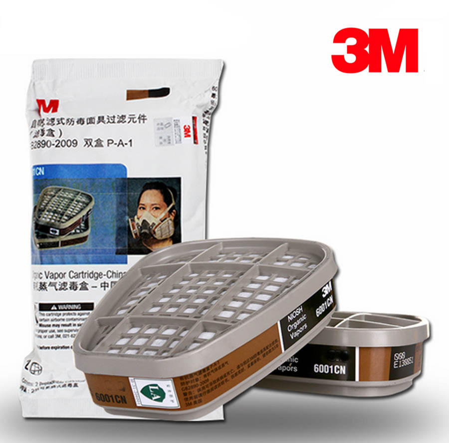1pair/2pair/5pair/10pair 3M 6001 Organic Vapor Respirator Filter Cartridge For 3M 7502 6200 <font><b>6800</b></font> Gas Mask image