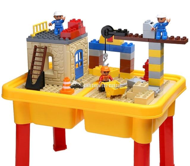 Building Block Table Series Assembled Large Particle Building Blocks  Childrenu0027s Educational Toys Storage Compatible With Legoe