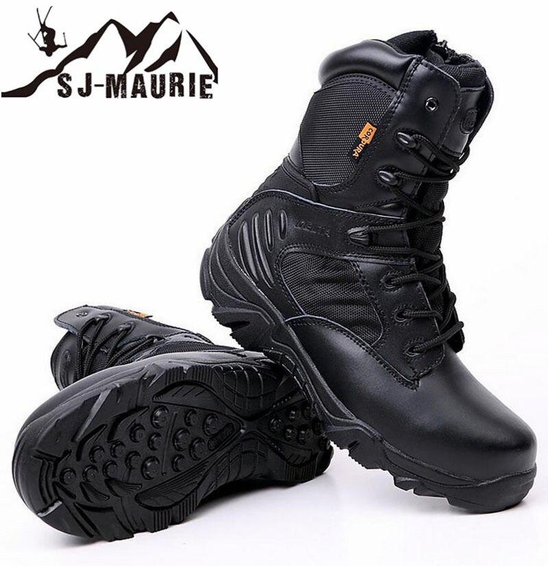 Sj-maurie hiver Bota Tactica Militar professionnel randonnée escalade chasse hommes militaire tactique bottes chaussures de plein air