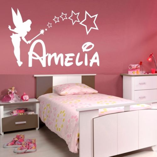 Fairy Princess Bedroom Ideas: D0011 PERSONALISED FAIRY Wall Sticker Girls Name Bedroom