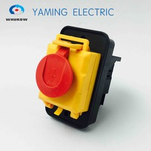 Free shipping Electromagnetic switch starter 10 Pin On Off 16A 230V with protection cover lock waterproof YCZ5 A