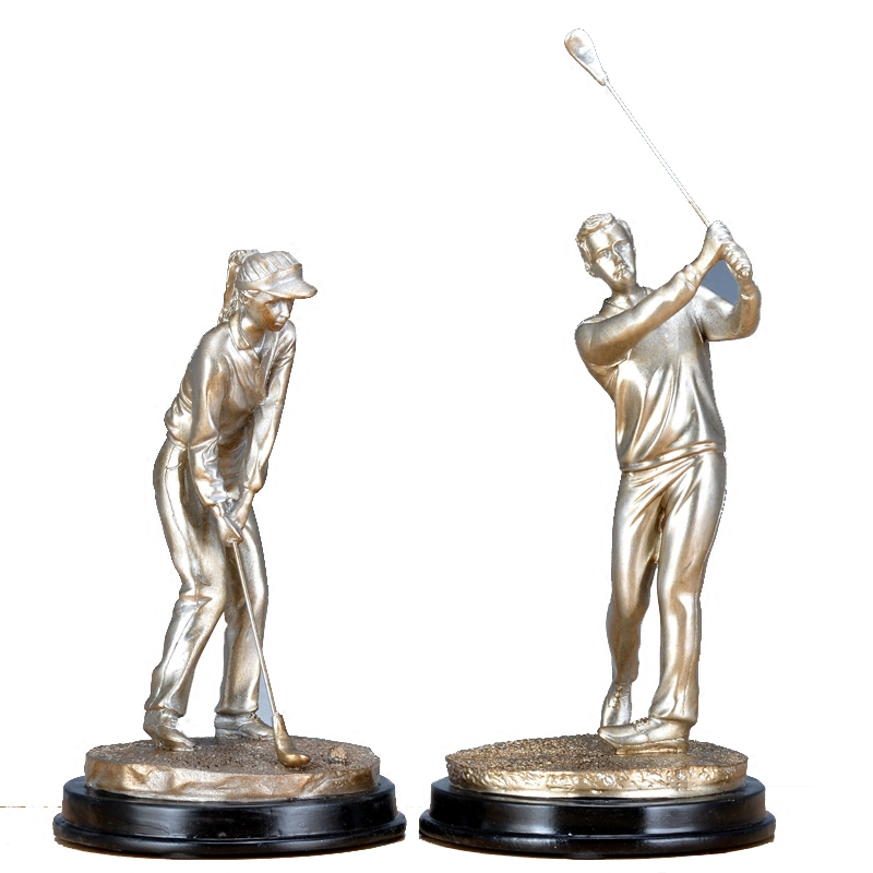European Style Sport Figure Statue Playing Golf Art Figurines Resin Craft Home Decoration Accessories For Living Room R1488|Statues & Sculptures| |  -