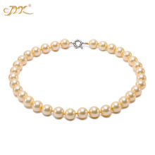 JYX 2019 charming necklace 12mm Seashell Pearl Round Beads Necklace high quality 18 elegant jewelry for women