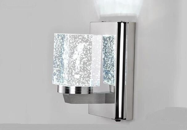 Moderna lámpara de cristal de acero inoxidable de cristal LED lámpara de pared de la Sala de la lámpara de pared para pasillo, habitación rosas FG653 - 3
