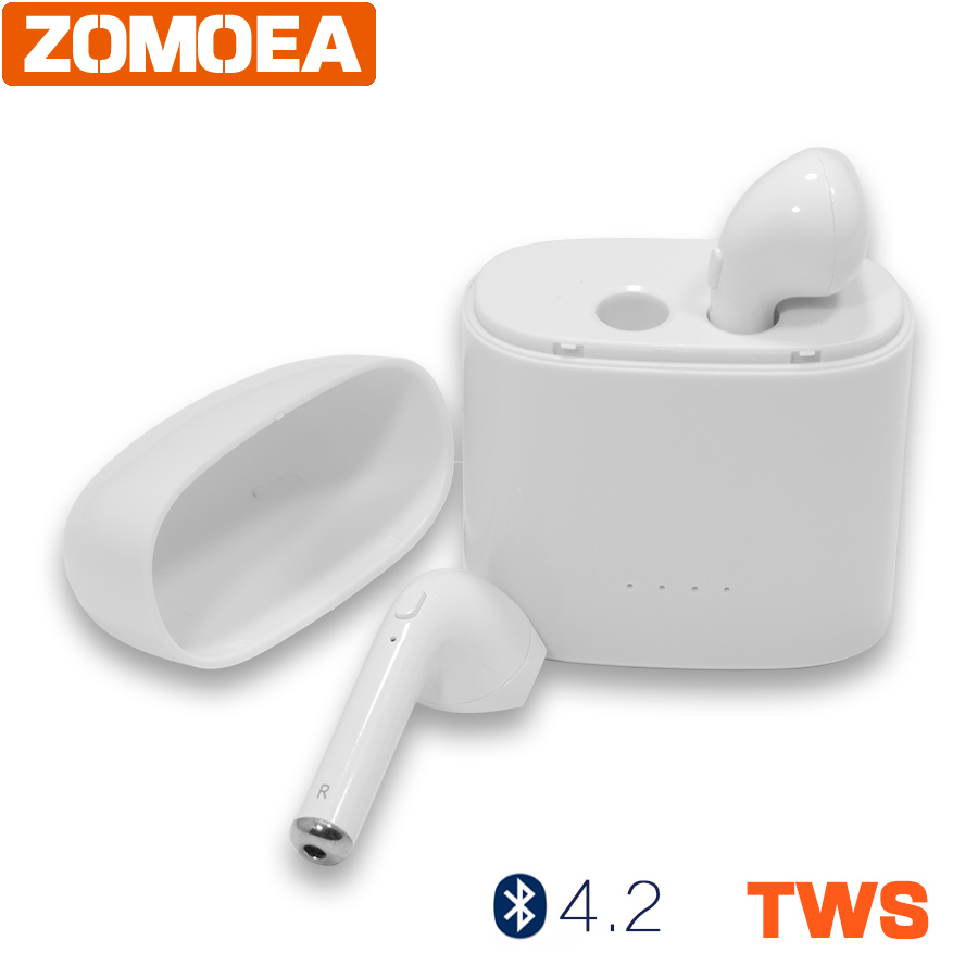 mini Invisible earphone calls wireless headphone bluetooth 4.2 TWS earbud noise canceling with Mic for iphone android headset