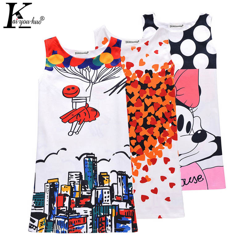Girls Dress Children Clothes Sleeveless Birthday Summer Dresses For Girls Clothes Vestidos Party Costume For Kids 6 7 8 9 Years  high quality casual cotton striped dress for girls teenagers kids summer sleeveless soft vest vestidos children costume