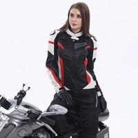 Women Motorcycle Jacket And Motorcycle Pants Set Breathable Mesh Motorbike Windproof Motorbike Jacket For Spring Summer