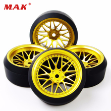 HSP RC 1:10 On-Road Car Accessories 4Pcs 5 Degree Rc 1/10 Drift Tires Wheel Rim Set 12mm Hex
