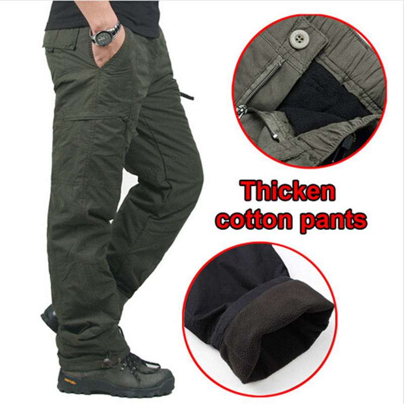 2016 Quality Winter Double Warm Men's Trousers Pants Male SWAT Army Combat Military Tactical Cotton Pants Work Clothes
