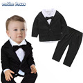 2017 Spring Newborn Baby Boy Clothing Gentlemen Style Suits Baptism Clothes for Infant Boy 3 Piece Clothing Set