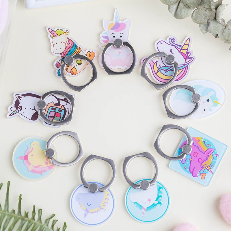 Mobile Phone Stand Holder Unicorn Finger Ring Mobile Smartphone Holder Stand For Iphone Xiaomi Huawei All Phone Mobile Phone Accessories