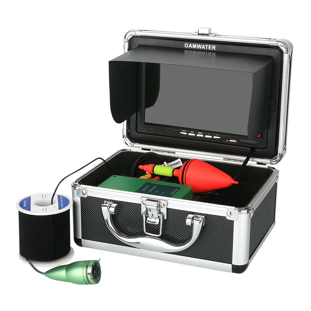 GAMWATER, видеокамера для подводной охоты, Камера комплект 1000tvl 6 Вт ИК светодиодный Белый светодиодный с 7 дюймов Цвет монитор 10, 15 м, 20 м возможностью погружения на глубину до 30 м