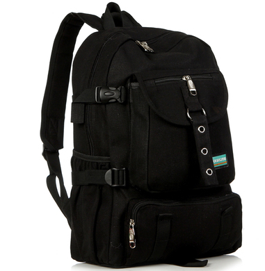 New Fashion Arcuate Shouider Strap Zipper Solid Casual Bag Male Backpack School Bag Canvas Bag Designer Backpacks For Men