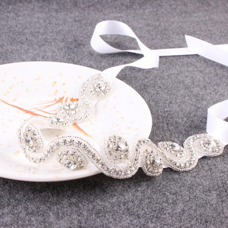 Bridal Hair Accessories Vintage Inspired Rhinestone Headband Crystal Pearls Wedding Headband Women Forehead Hair Jewelry 1 PC 5