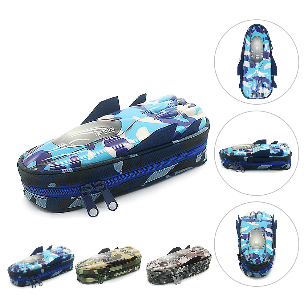 Warship Pencil Case Vehicle Pen Pouch Bag with Combination for Boys Zipper EVA Large Cute School Pencil Box Office Pen Box pencil case vehicle pen pouch bag with combination lock boys double zipper camouflage canvas large school pencil box military