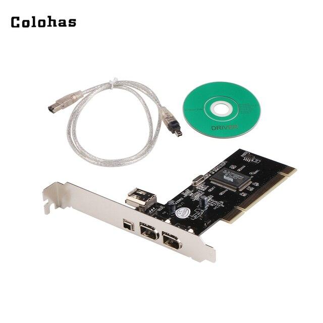 Carte contrôleur PCI à 6 broches/4 broches IEEE 1394 avec câble Firewire pour caméra numérique caméscopes DV disques durs disques amovibles