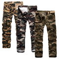 Stylish Fashion Camo Cargo Pants for Men Casual Loose Army Military Multi-pocket Tactical Trousers Overalls Plus Size