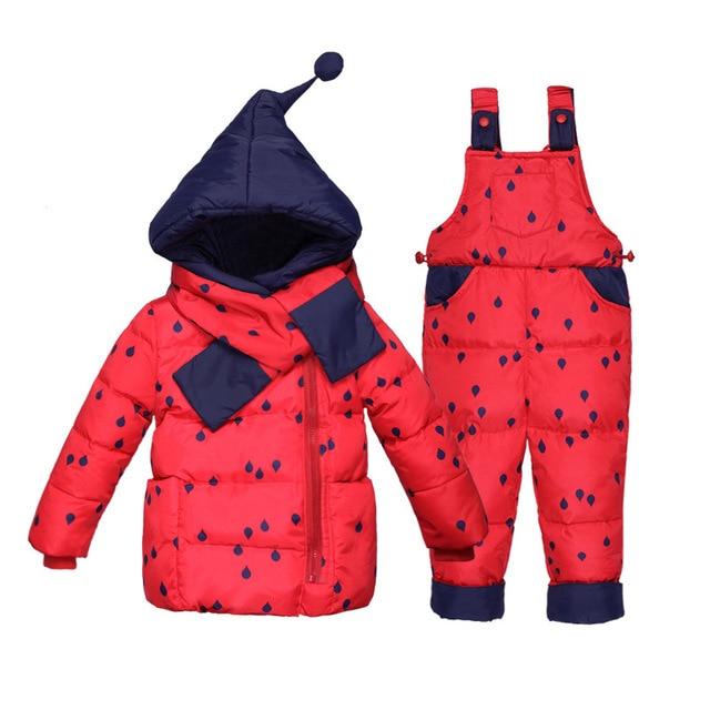 74acb1f9e97ec Bébé Habit de Neige Enfants Filles 2 pcs Ski Costumes Combinaisons D hiver  Enfants Neige