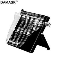 Damask Holder Multifunctional Plastic Holder Acrylic Kitchen Knife Block For Metal Knife Stand Sooktops Tube Shelf Chromophous