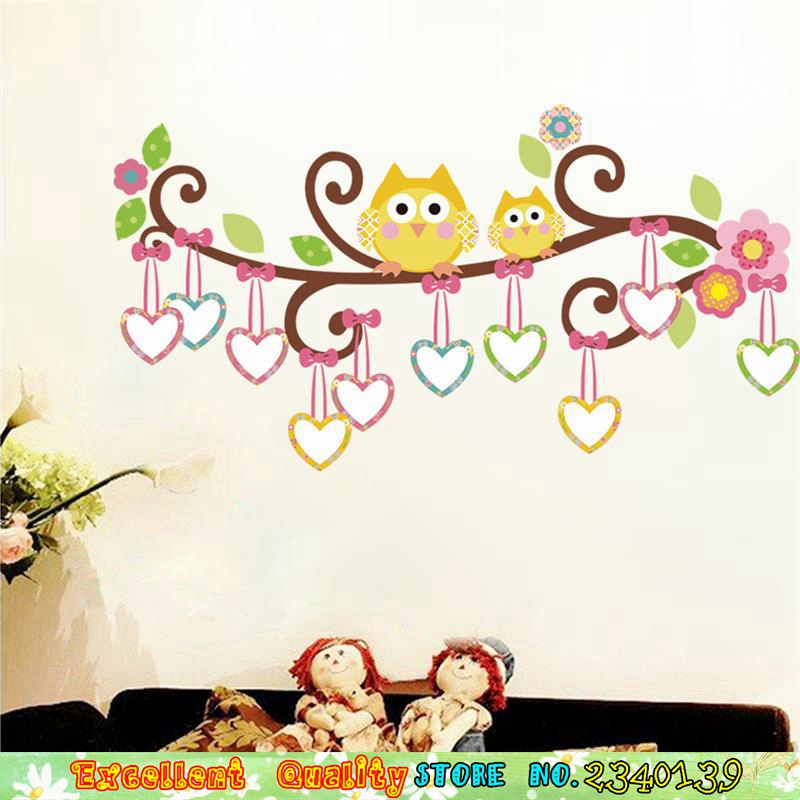 Popular owl wall decal buy cheap owl wall decal lots from for Sticker para decorar dormitorios