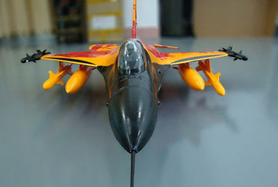 SkyFlight LX Orange F16 Fighting Falcon ARF/PNP RC Jet Airplane Model W/ Motor Servos ESC Vector Nozzle W/O Battery