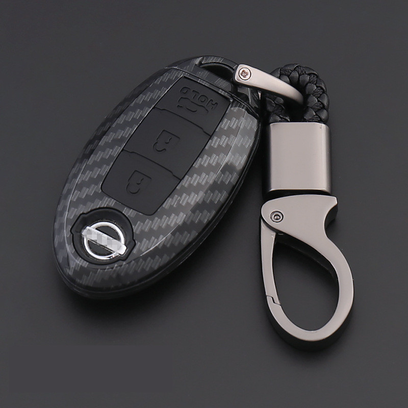 Carbon Fiber Shell Car Remote Key Cover Case For Nissan Qashqai J10 J11 X-Trail T31 T32 Kicks Tiida Pathfinder Murano Note Juke