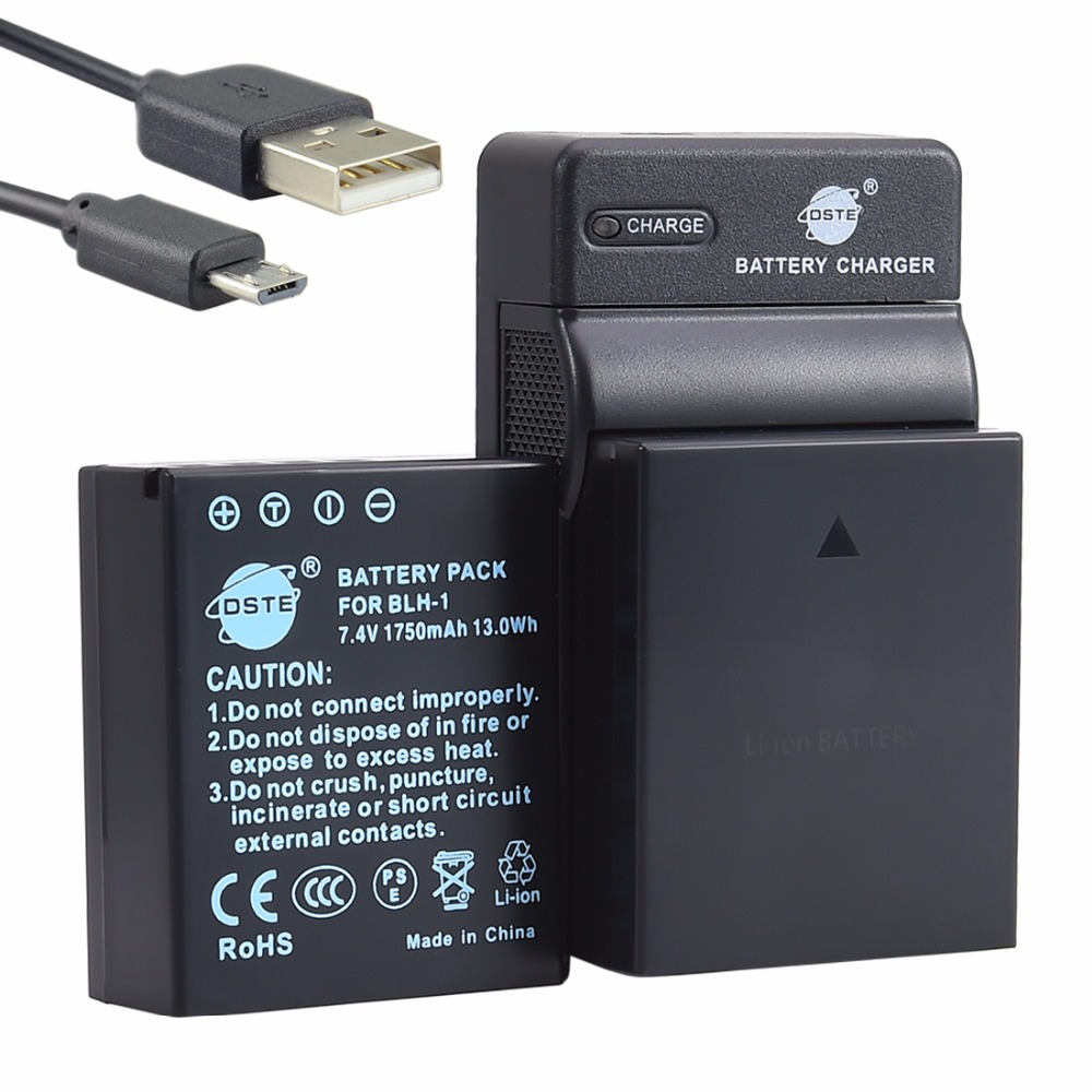 DSTE 2pcs BLH-1 Battery with USB Charger for OLYMPUS EM1 MARK II   E-M1X CameraDSTE 2pcs BLH-1 Battery with USB Charger for OLYMPUS EM1 MARK II   E-M1X Camera