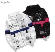 купить Laipelar Spring Autumn Men Windbreaker Jacket Brand Fashion Hip Hop Thin Zipper Casual Jacket Mens Outwear anorak по цене 1564.22 рублей