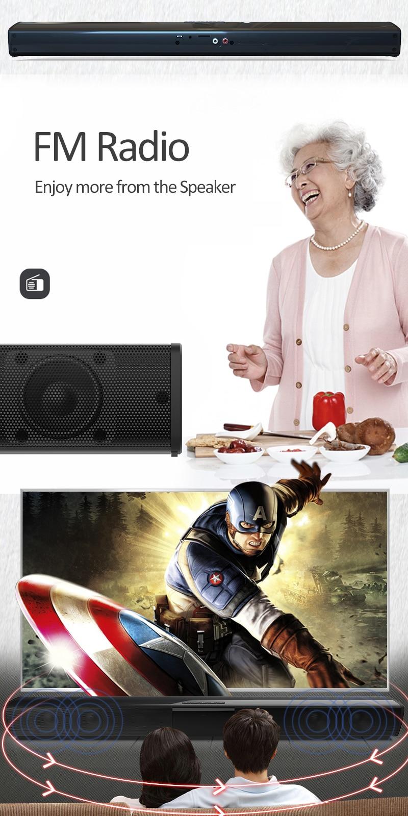 20W TV Sound Bar Wired and Wireless Bluetooth Home Surround SoundBar