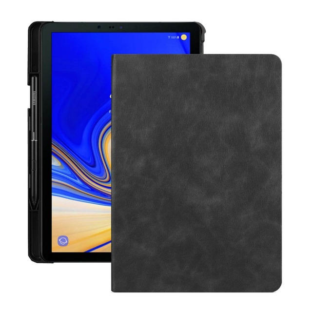 promo code dc468 5c692 US $17.35 |For Samsung Galaxy Tab S4 10.5 T830 T835 T837 Tablet Premium  Flip Leather Case Stand Cover Auto Sleep/Wake Build in S Pen Holder-in  Tablets ...
