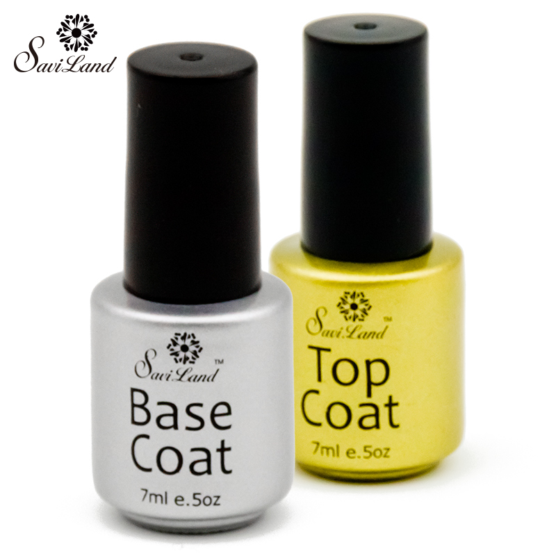 saviland top coat and base coat for esmalte gel clear no wipe top coating soak off gel nails. Black Bedroom Furniture Sets. Home Design Ideas