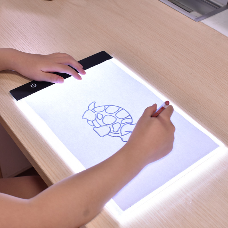 Portable Ultra-Thin A4 LED Light Copy Painting Drawing Board Stencil Touch Animation Copy Tracing Pad Light Box Tablet Gift Toy