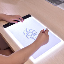 Buy Portable Ultra-Thin A4 LED Light Copy Painting Drawing Board Stencil Touch Animation Copy Tracing Pad Light Box Tablet  Gift Toy