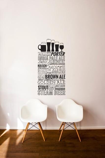 Quotes Wall Sticker Bar Restaurant Kitchen Home Decals Decor Beer
