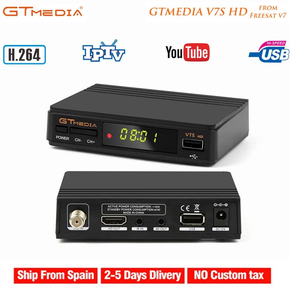 Gtmedia offre spéciale V7S HD récepteur de télévision numérique par Satellite prise en charge Cccam Youtube IPTV Freesat DVB-S2 H.264 décodeur TV